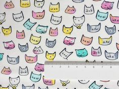 Catitude -  Little pastel cat heads from the Catitude collection from Dear Stella.