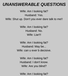 Unanswerable Questions - Funny Story !!!