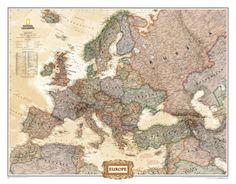 Europe Political Map, Executive Style Photo at AllPosters.com