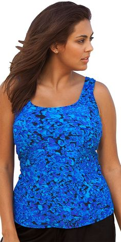 Beach Belle Women's Cerulean Classic Top * Check this awesome image  : Plus size swimwear