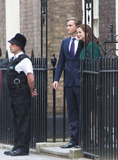 David Tennant and Emily Watson On Set Of The Politician's Husband