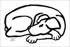 JACQUELINE DITT - Dog Black Original Grafik handsigniert Bilder Hund Tier Kunst