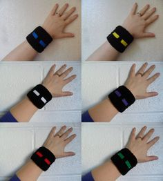 Minecraft Enderman Cuff Wrist Band Made to by LilacsLovables, $10.00