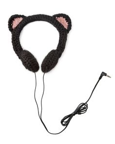 Crocheted headphones for Iva.