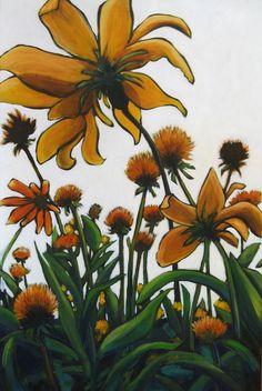 Garden Fun Painting by Marti Lyttle
