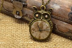 Check out this item in my Etsy shop https://www.etsy.com/listing/263279787/owl-steampunk-necklace-vintage-pendant