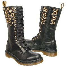 I'd wear these... Dr Martens - rings (Steampunk) #Boots, #Black