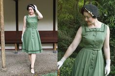 Hey, I found this really awesome Etsy listing at https://www.etsy.com/listing/194779904/vintage-cotton-1950s-50s-dress-mabel