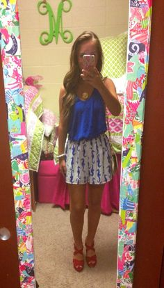 Ootn  Tank- Jcrew Shorts- red dress boutique Bracelet- Lilly pulitzer Purse- Tory burch  Wedges- Macys  Necklace- etsy