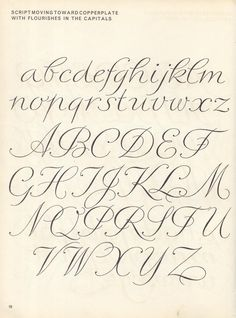 Parecida a mi letra vintage script alphabet ~ Script Lettering M. Meijer ~ script moving toward copperplate with flourishes in the capitals Script Alphabet, Hand Lettering Alphabet, Script Lettering, Lettering Styles, Typography Letters, Brush Lettering, Fancy Writing Alphabet, Pretty Fonts Alphabet, Spanish Alphabet