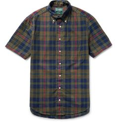 Gitman Vintage slim-fit Madras-checked cotton shirt at Mr Porter