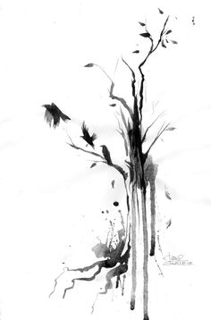 black and white watercolor tattoos - Google Search