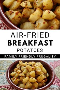 Air Fried Breakfast PotatoesThese homemade air-fried breakfast potatoes will be a hit with the whole family. This is an inexpensive breakfast recipe that can be used with your air fryer and/or Ninja Foodi. These air fried breakfast potatoes of Air Fryer Dinner Recipes, Air Fryer Recipes Easy, Grilling Recipes, Cooking Recipes, Air Fryer Recipes Potatoes, Cooking Tips, Fried Breakfast Potatoes, Hashbrown Breakfast, Breakfast For Dinner