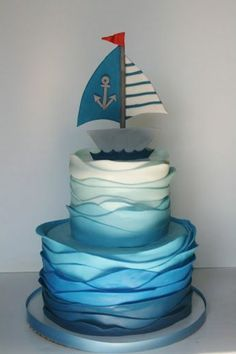Funny pies bring fairy tales and dreams back to life- Lustige Torten rufen Märchen und Träume wieder ins Leben Funny pies call fairy tales and dreams back to life … - Birthday Celebration Quotes, Ocean Cakes, Nautical Cake, Nautical Theme, Cake Name, Homemade Birthday Cakes, Baby Shower Cakes For Boys, Funny Cake, Cupcakes