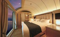 Twilight Express Mizukaze: On board #Japan's 'nostalgic modern' #luxury train => ow.ly/z4Md30cRBzk #VisitJapan #travel via @Telegraph The master suite's bedroom Places To Travel, Places To Go, Travel Destinations, Bodega Hotel, Resorts, Pullman Train, Master Suite Bedroom, Master Bathroom, Hotels