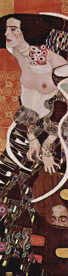 "Gustav Klimt (1862-1918) : ""Judith II (or Salomé) "" ,1909 , 178x41 cm , Modern Art International Gallery Ca' Pesaro , Venice , acquired at Biennale 1910 . SEEN in Exhibition Venice 2001 ."