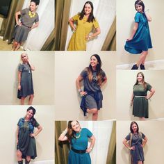 The new LuLaRoe Carly Dress!!! An adorable, flowy dress with a high-low hemline and patch pocket