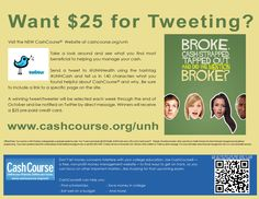October 15th - November 2nd, you could WIN a pre-paid credit card, just for tweeting. #UNHCash