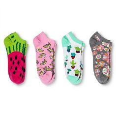 Women's Low Cut Socks Fashion 4-Pack White 4-10 - Xhilaration™