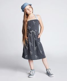 This Dodo Graphite Scribble Halter Dress - Kids by Dodo is perfect! #zulilyfinds