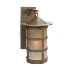 Steel Partners San Carlos 1 Light Outdoor Wall Lantern Finish: Rust, Shade Type: White Mica, Wet Location: No