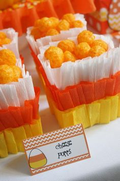 Candy Corn Themed Halloween Party