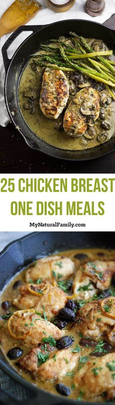 2. One-Pan Chicken in Mushroom Sauce Recipe 3. One Skillet Creamy Chicken with Mushrooms Recipe 4. Skillet Moroccan Chicken Tajine Recipe 5.…