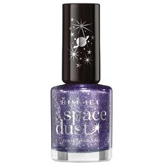 Rimmel London Space Dust Nail Polish (14 RON) ❤ liked on Polyvore featuring beauty products, nail care, nail polish, nails, beauty, makeup, rimmel and rimmel nail polish