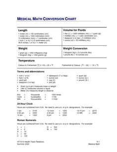 Worksheet Medical Math Worksheets cooking charts and metric conversion on pinterest medical math chart