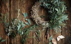 D I E T L I N D W O L F wreath binding, herbs, copper yarn
