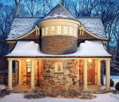A complex roof, like the one on this beautiful carriage house, can add significant cost to a construction project. A simple, not too steep roof will protect your investment over time and be less likely to leak.
