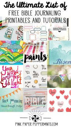 A list of all the tutorials and printables I could find for my journaling bible! Plus my favorite websites and blogs for bible art journaling and illustrated faith! I'm going to keep it updated, so let me know if you'd like to be added to the list! ♥️♥️♥️