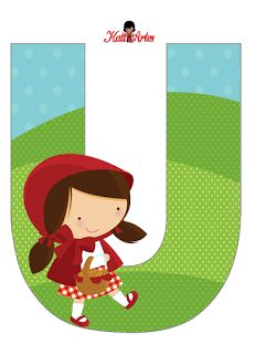 Fancy Letters, Letters And Numbers, Red Riding Hood Party, Little Red Ridding Hood, Happy Brithday, Alphabet For Kids, Red Hood, Baby Party, 1st Birthday Parties