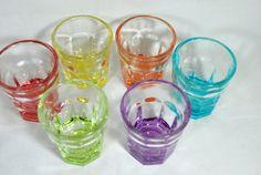 Shot Glasses Harlequin Mid Century Bar Set  6 by Dupasseaupresent