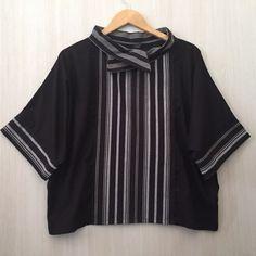 Atasan/blouse lurik tenun