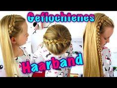 ♥geflochtenes Haarband (Teil 1)/♥ halber holländischer Zopf/ Flechtfrisur für Mädchen - YouTube