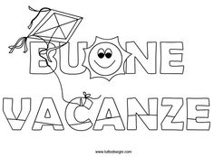 Buone Vacanze - Scritta - TuttoDisegni.com Snoopy, Math, Sewing, Kids, Character, Printables, Halloween, Step By Step, Spring