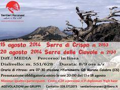 Serra di Cispo e Serra delle Ciavole www.sentierimoranesi.com