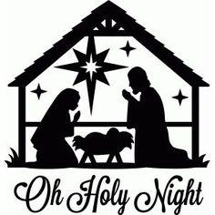 Silhouette Design Store: oh holy night nativity Free Christmas Printables, Christmas Art, Christmas Manger, Christmas Clipart, Christmas Signs, Christmas Projects, Christmas Decorations, Christmas Ornaments, Nativity Ornaments
