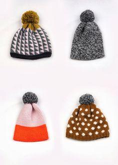 Hand knit hats by textile designer, Lauren Mayhew | White Lodge Knitwear, 2013