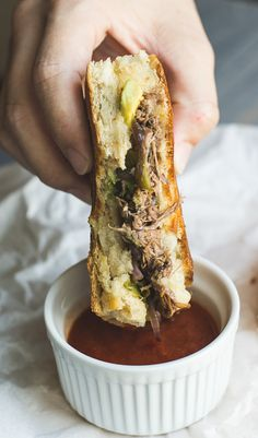Stuck in the sandwich doldrums? Try this steak and cheddar panini - tender, juicy meat, sweet onions, smoky chiles, creamy avocado slices, buttery smooth cheddar (oh that cheddar!)