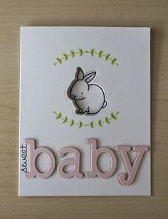 Lawn Fawn Video {6.17.14} Baby bunny window card - the Lawn Fawn blog
