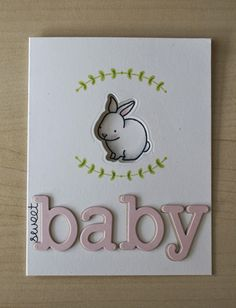Lawn Fawn Video {6.17.14} Baby bunny window card - the Lawn Fawn blog