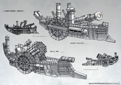 Steam Warships 2 by ortsmor on DeviantArt ★    CHARACTER DESIGN REFERENCES™ (https://www.facebook.com/CharacterDesignReferences & https://www.pinterest.com/characterdesigh) • Love Character Design? Join the #CDChallenge (link→ https://www.facebook.com/groups/CharacterDesignChallenge) Share your unique vision of a theme, promote your art in a community of over 40.000 artists!    ★