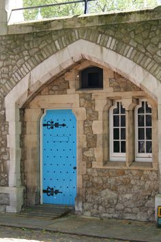 Turquoise door at Tower of London- this leads inside the yeoman's club... Had a blast with the beefeaters here :-)