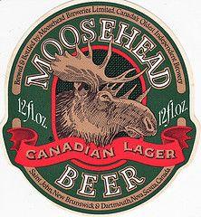 my favorite beer Moosehead Beer, Canadian Beer, Sous Bock, Beer Mats, Vintage Labels, Vintage Beer Signs, Beer Coasters, Beer Label, Best Beer