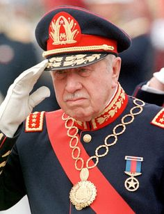 Augusto Pinochet: Became dictator following a military coup and the murder of Salvador Allende, during his rule, thousands 'disappeared'
