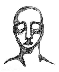Minimalistic illustration, pencil line drawing. Illustration of one person. Printed on fine art Hahnemühle German Etching 31 Kunst Inspo, Art Inspo, Art Sketches, Art Drawings, Arte Sketchbook, Arte Horror, Art Hoe, Psychedelic Art, Art Plastique