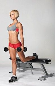 Single Leg Bench Squat---excellent way to get lower during a single leg exercise. Much harder to balance, but a great way to tone the lower body. www.facebook.com/fitivity