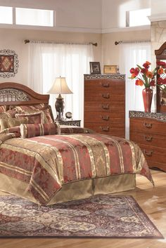 Shop for Fairbrooks Estate Queen Panel Headboard, Dresser & Mirror starting at at our furniture store located at 4014 N. Furniture Near Me, Bedroom Furniture Sets, Home Furniture, Bedroom Decor, Bedroom Ideas, Modern Bedroom, Furniture Outlet, Mega Furniture, Dream Furniture